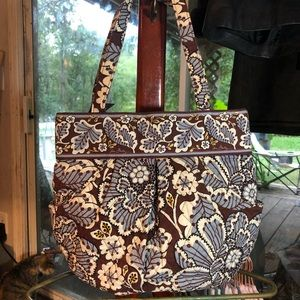 Vera Bradley | Brown Floral Shoulder Bag